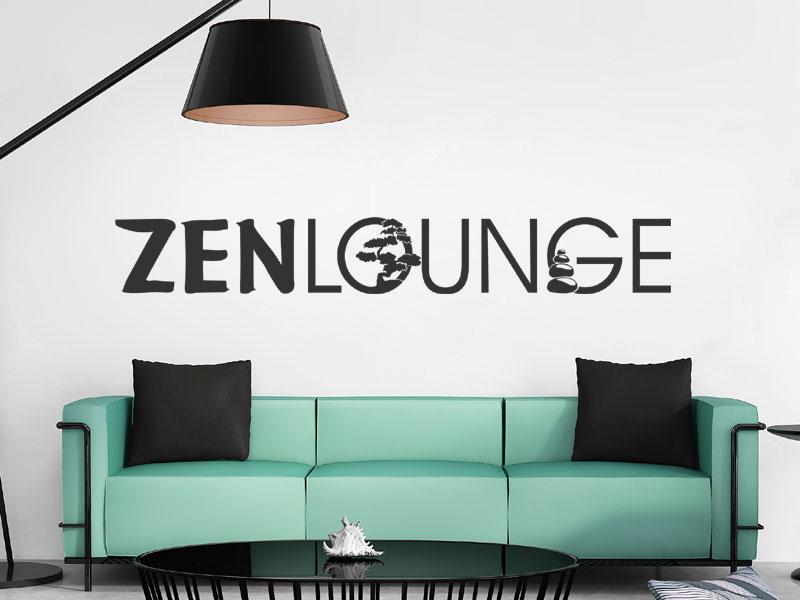 Wandtattoo zenlounge zur entspannung - Sfeer zen lounge ...