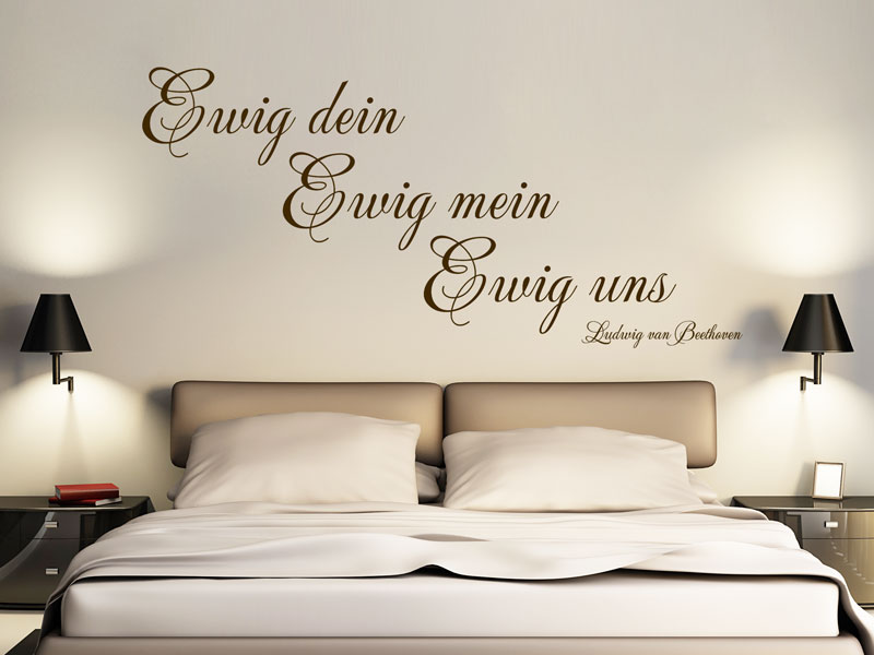 ewig uns wandtattoo beethoven zitat von. Black Bedroom Furniture Sets. Home Design Ideas