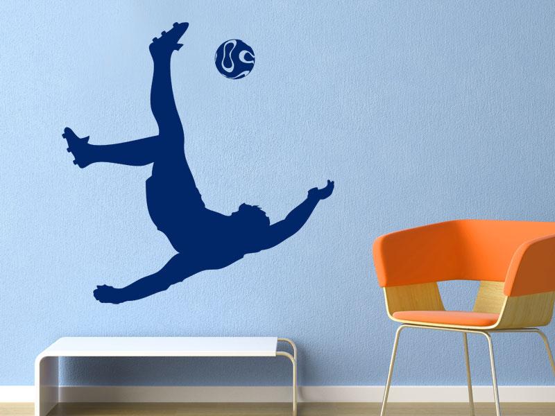 wandtattoo fallr ckzieher beim fu ball. Black Bedroom Furniture Sets. Home Design Ideas