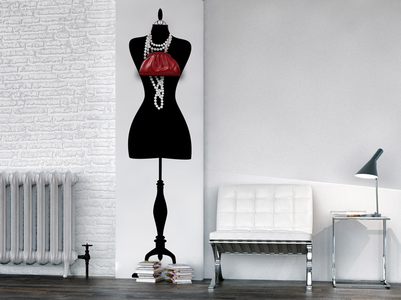 wandtattoo garderobe mannequin wandgarderobe. Black Bedroom Furniture Sets. Home Design Ideas