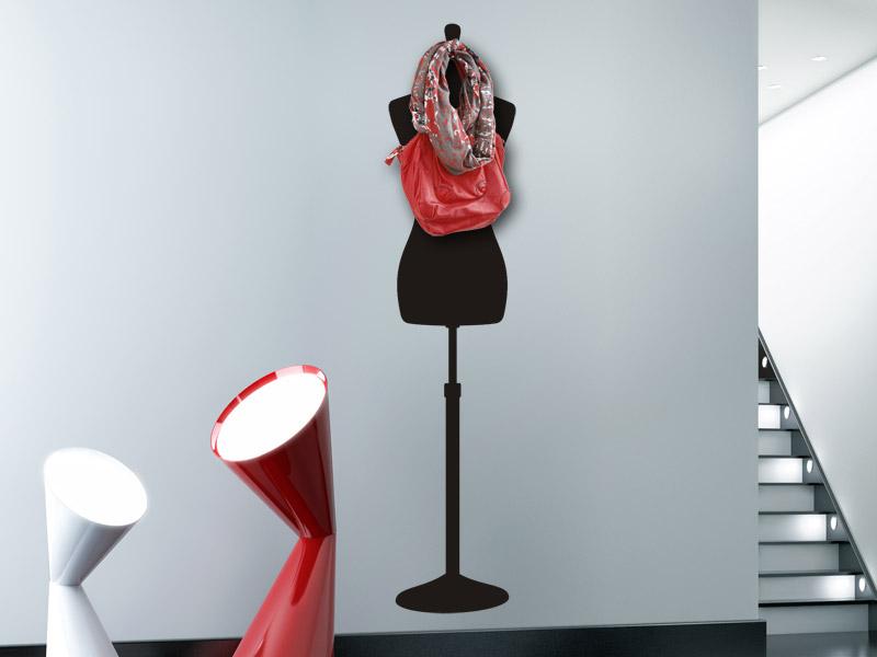 Wandtattoo garderobe schneiderpuppe - Wandtattoo garderobe ...