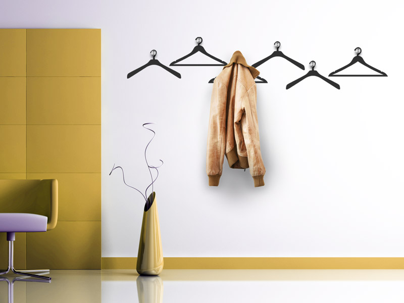 wandtattoo garderobe kleiderb gel wandtattoos garderoben. Black Bedroom Furniture Sets. Home Design Ideas