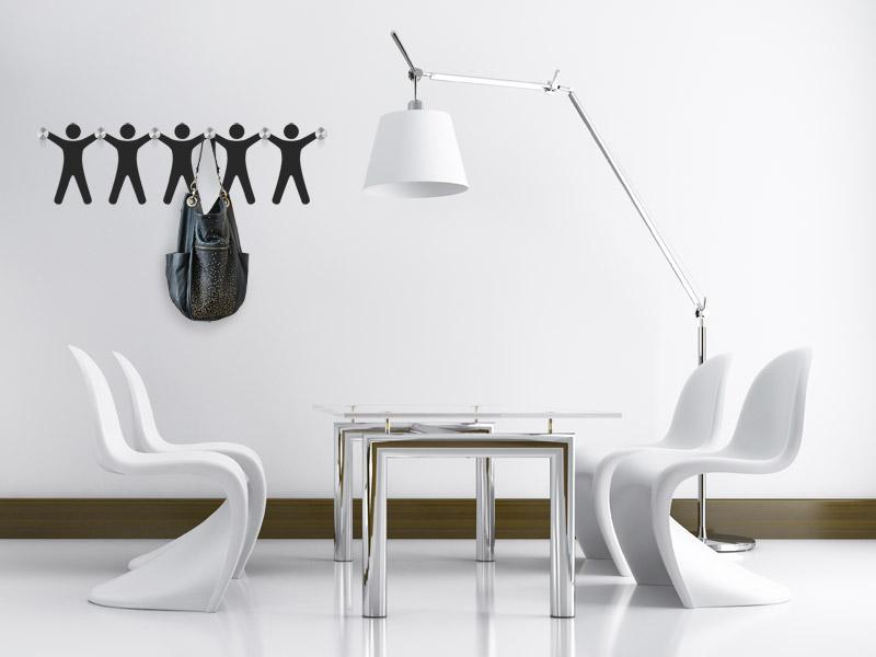 wandtattoo garderobe m nnlein mit wandhaken. Black Bedroom Furniture Sets. Home Design Ideas
