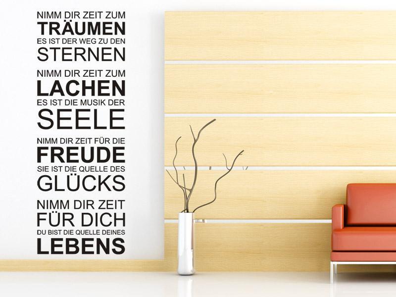wandtattoo zeit f r dich als spruchbanner. Black Bedroom Furniture Sets. Home Design Ideas