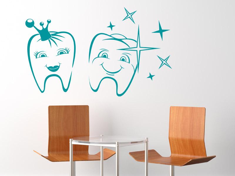 wandtattoo lustige z hne f r die zahnarztpraxis. Black Bedroom Furniture Sets. Home Design Ideas