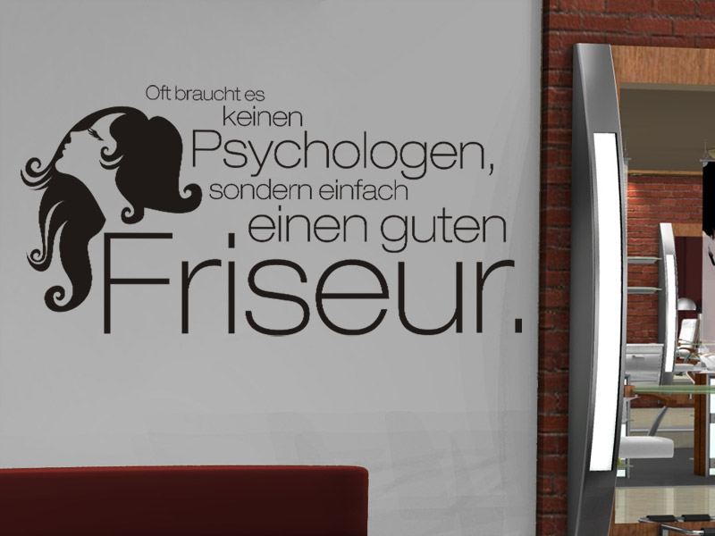 Friseur Wandtattoo Friseursalon Wandgestaltung Wandtattoosde