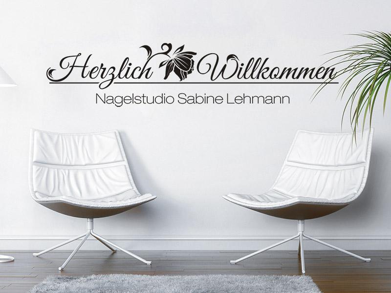 wandtattoo nagelstudio herzlich willkommen. Black Bedroom Furniture Sets. Home Design Ideas