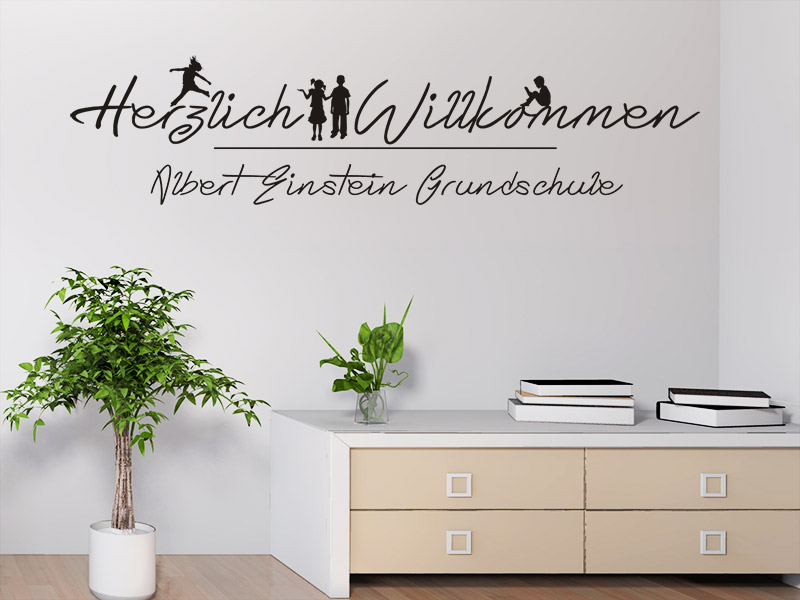 wandtattoo herzlich willkommen f r schulen. Black Bedroom Furniture Sets. Home Design Ideas