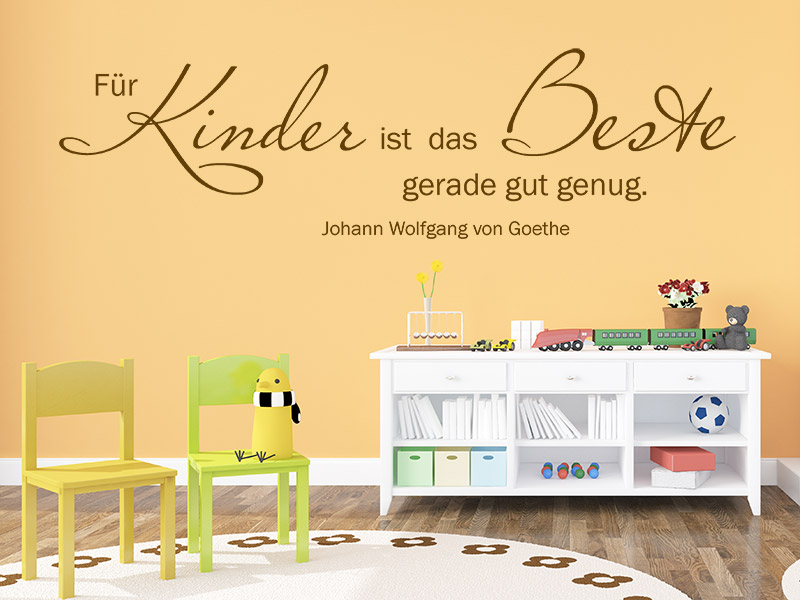 wandtattoo f r kinder ist das beste gerade gut. Black Bedroom Furniture Sets. Home Design Ideas