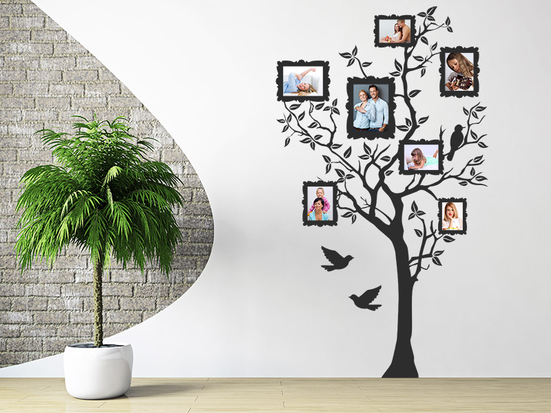 wandtattoo foto baum mit fotorahmen wandtattoo foto baum wandtattoos. Black Bedroom Furniture Sets. Home Design Ideas