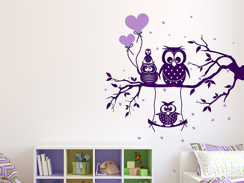 wandtattoo eule kinderzimmer prinsenvanderaa. Black Bedroom Furniture Sets. Home Design Ideas