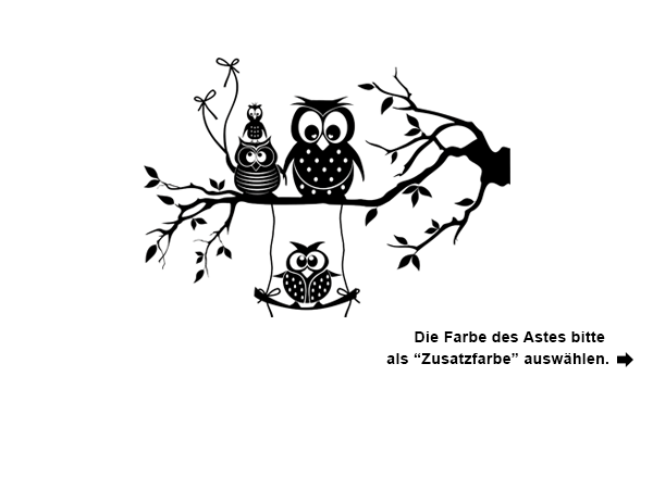 wandtattoo ast mit putziger eulenfamilie. Black Bedroom Furniture Sets. Home Design Ideas