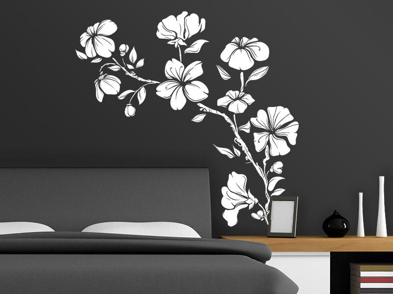 wandtattoo hibiscus. Black Bedroom Furniture Sets. Home Design Ideas