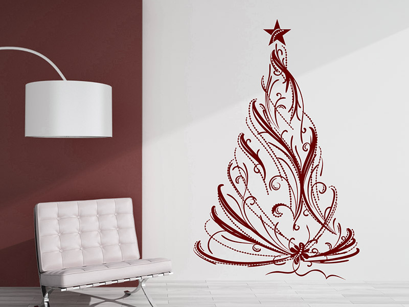 wandtattoo festlicher weihnachtsbaum tannenbaum. Black Bedroom Furniture Sets. Home Design Ideas