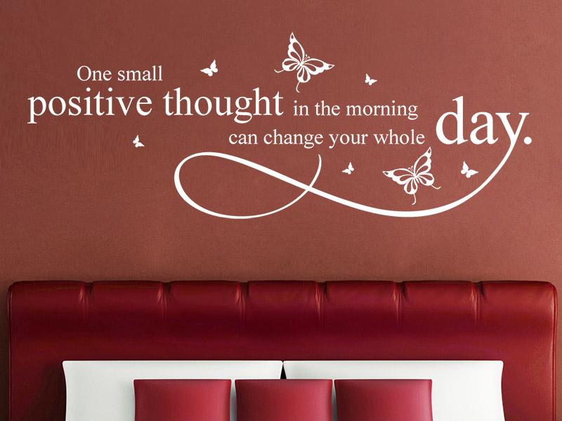 wandtattoo positive thought positive gedanken. Black Bedroom Furniture Sets. Home Design Ideas