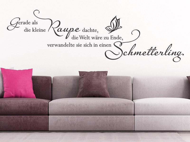 Wandtattoo Raupe Und Schmetterling
