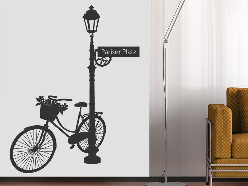 Wandtattoo pariser platz berlin mit fahrrad - Ausgefallene wandtattoos ...