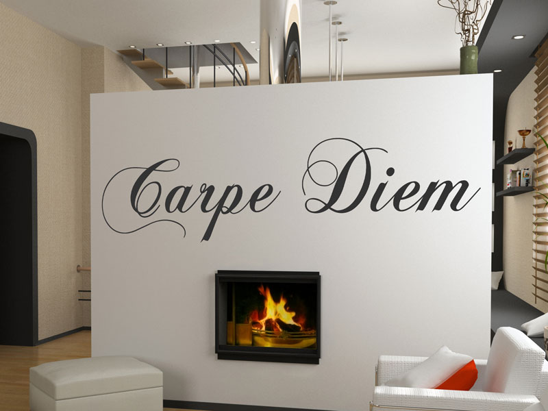 wandtattoo carpe diem schriftzug. Black Bedroom Furniture Sets. Home Design Ideas
