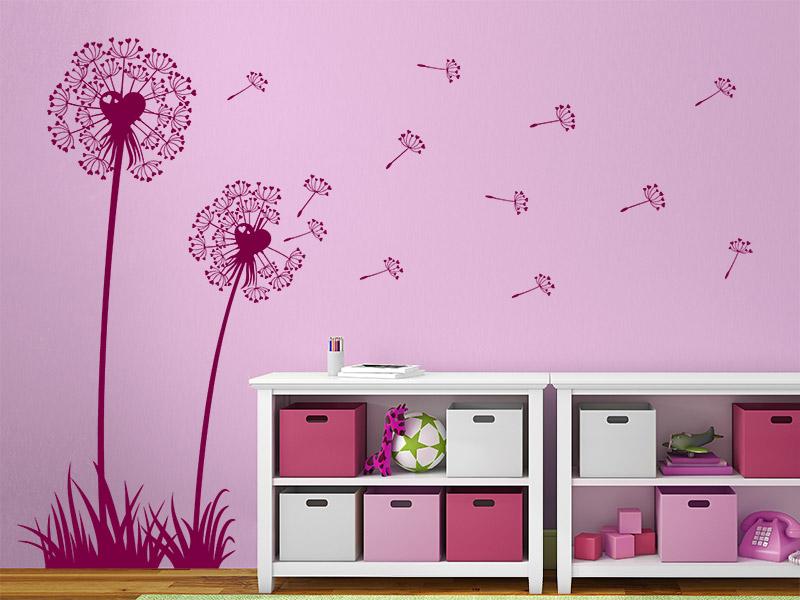 Pusteblumen wandtattoo herzen pusteblume kinder von for Gestaltungsideen kinderzimmer