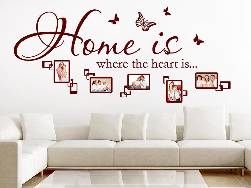 Wandtattoo home is where the heart is fotorahmen - Wandtattoo home ...