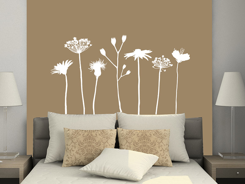 wandtattoo verspielte wiesen blumen. Black Bedroom Furniture Sets. Home Design Ideas