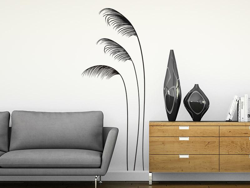 pampasgras wandtattoo gr ser schilf bei. Black Bedroom Furniture Sets. Home Design Ideas