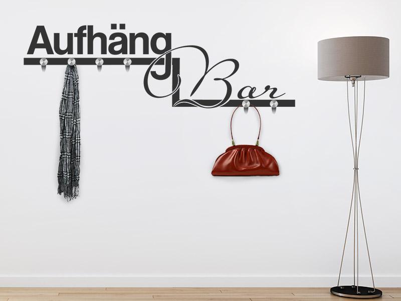wandtattoo garderobe aufh ngbar wandgarderobe. Black Bedroom Furniture Sets. Home Design Ideas