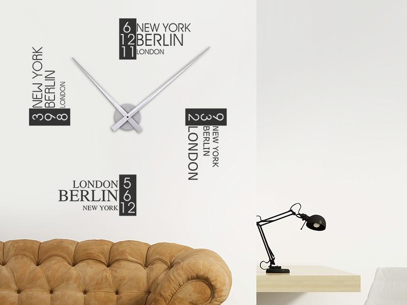 wandtattoo uhr mit zeitzonen weltzeit. Black Bedroom Furniture Sets. Home Design Ideas