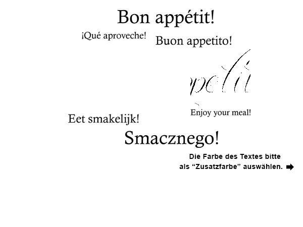 Guten Appetit Französisch wandtattoo guten appetit in zwei farben wandtattoos de