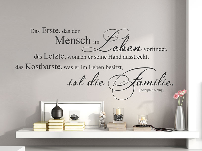 wandtattoo das kostbarste ist die familie. Black Bedroom Furniture Sets. Home Design Ideas