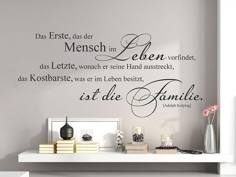 Wandtattoo das kostbarste ist die familie - Wandtattoo family ...