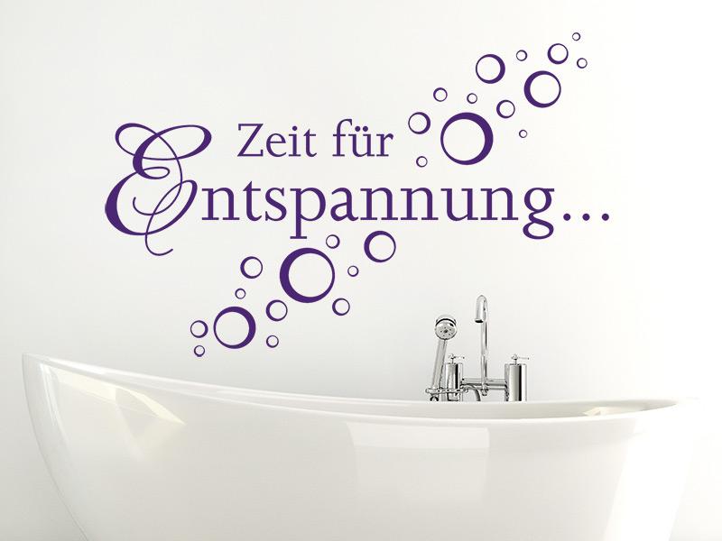 Sprüche entspannung wellness  Wandtattoo Zeit für Entspannung - Seifenblasen - Wandtattoos.de