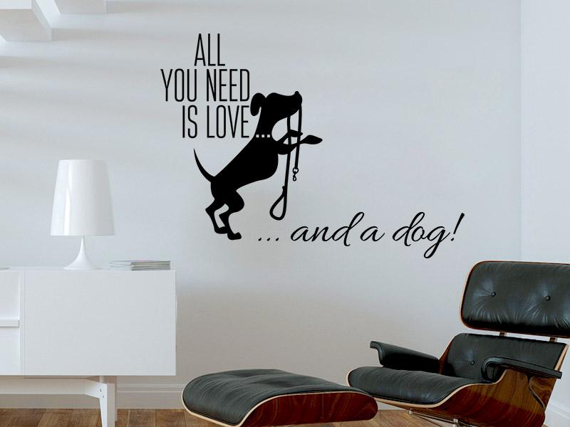wandtattoo hundespruch reuniecollegenoetsele. Black Bedroom Furniture Sets. Home Design Ideas