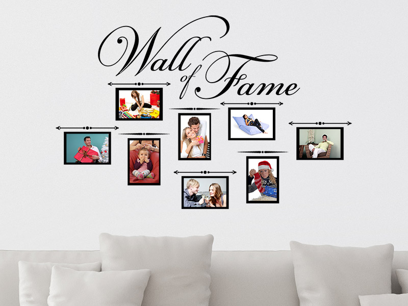 wandtattoo fotorahmen wall of fame. Black Bedroom Furniture Sets. Home Design Ideas