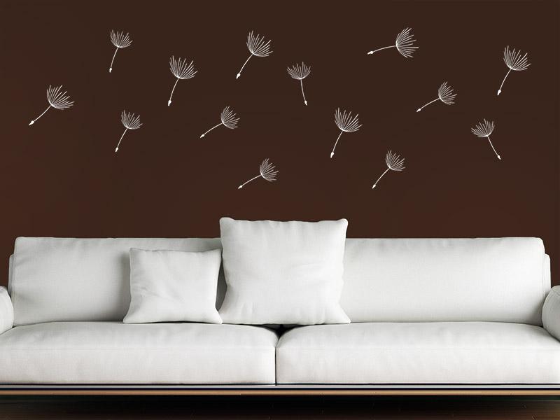 wandtattoo zusatzsamen set pusteblumen im wind. Black Bedroom Furniture Sets. Home Design Ideas