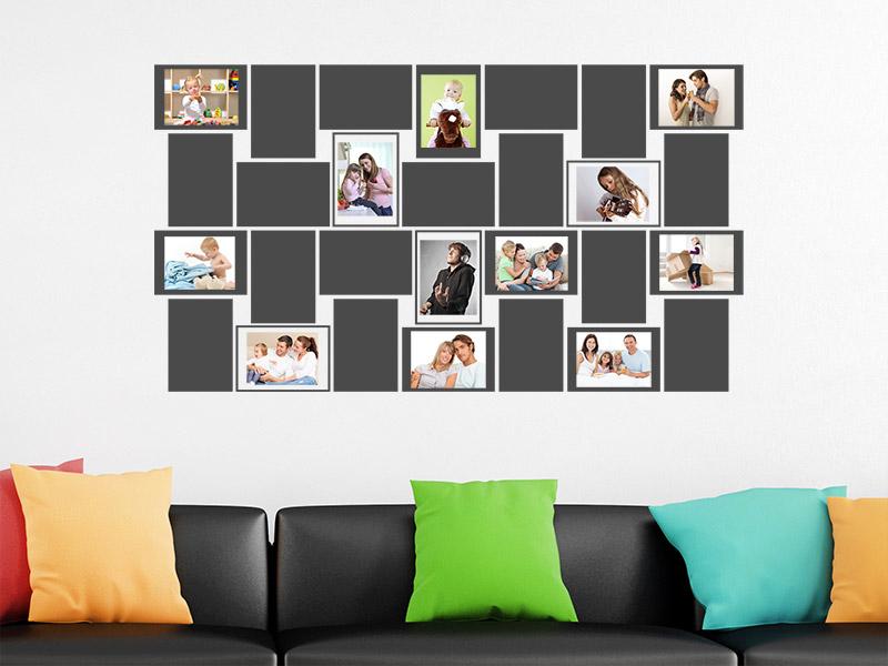 wandtattoo bilderwand fotorahmen bei. Black Bedroom Furniture Sets. Home Design Ideas