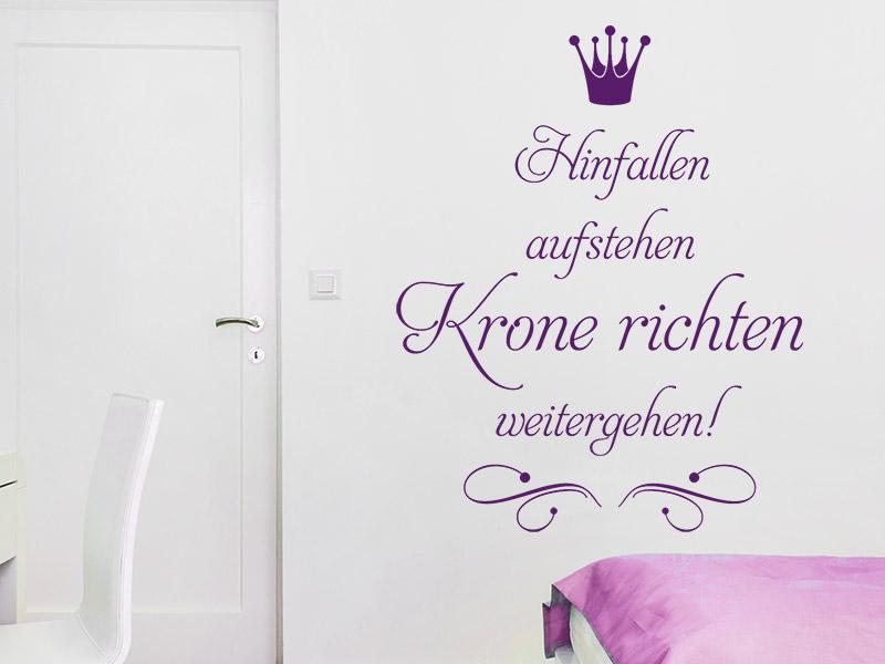 wandtattoo krone richten weitergehen. Black Bedroom Furniture Sets. Home Design Ideas