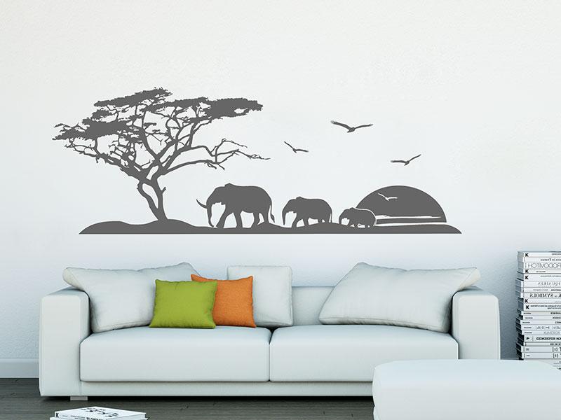 Wandtattoo afrikanische landschaft reuniecollegenoetsele - Wandtattoos afrika style ...