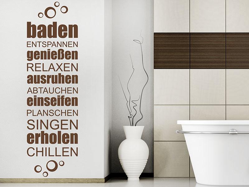 Wandtattoo Bad Begriffe - Wellness fürs Badezimmer - Wandtattoos.de