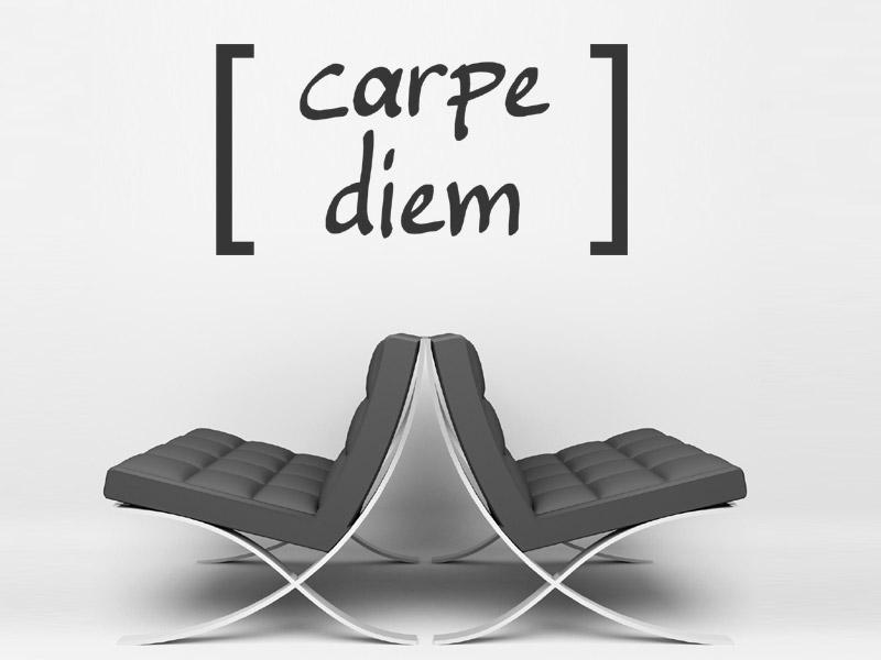 wandbeschriftung carpe diem wandtattoo bei. Black Bedroom Furniture Sets. Home Design Ideas