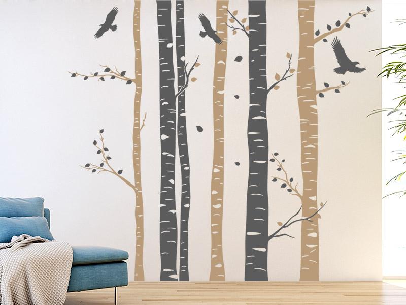 buntes wandtattoo zweifarbige birkenst mme bei. Black Bedroom Furniture Sets. Home Design Ideas