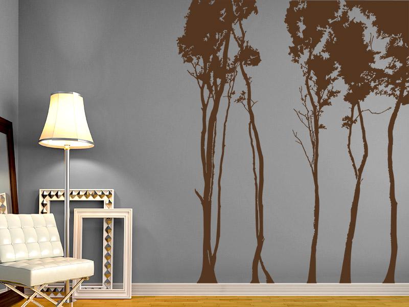 wandtattoo laubb ume als wald. Black Bedroom Furniture Sets. Home Design Ideas
