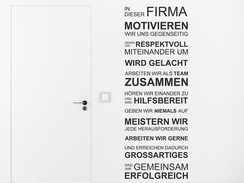 Wandtattoo Spruche Fur Firma Arbeit Buro Wandtattoos De