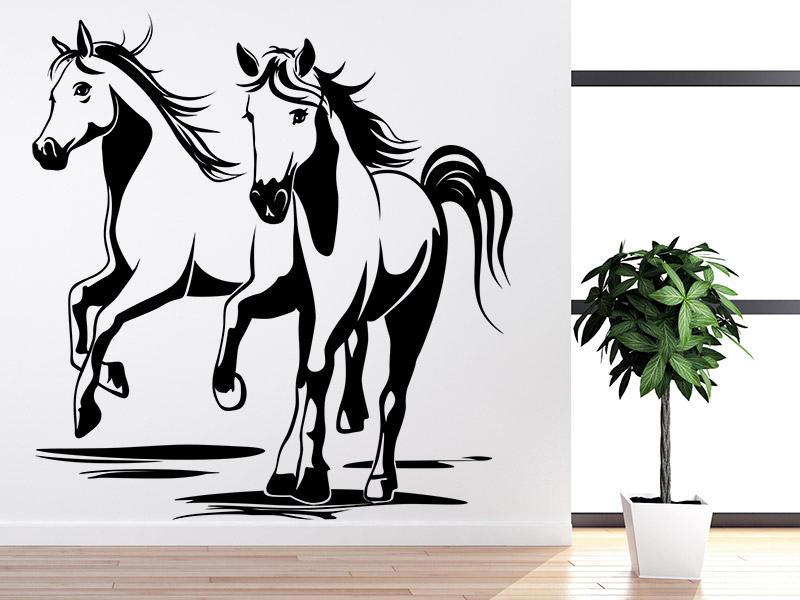 Wandtattoo pferde freunde - Wandtattoo pferd kinderzimmer ...
