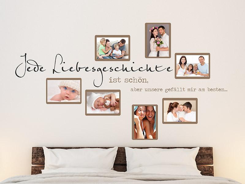 Wandtattoo Fotorahmen - Kreative Bilderrahmen - Wandtattoos.de