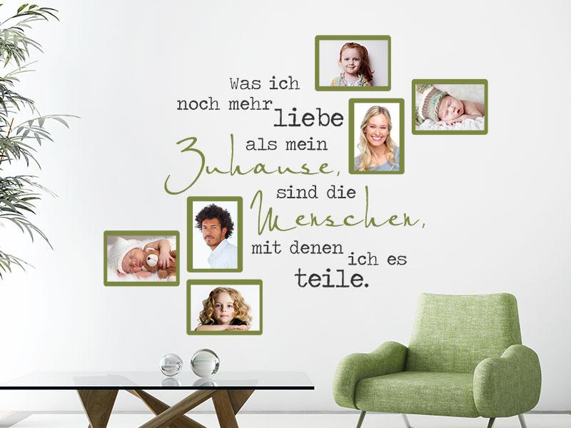 Wandtattoo Fotorahmen Was ich noch mehr liebe... - Wandtattoos.de