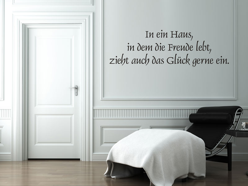 Wandtattoo Gluck Spruche Wandtattoos De