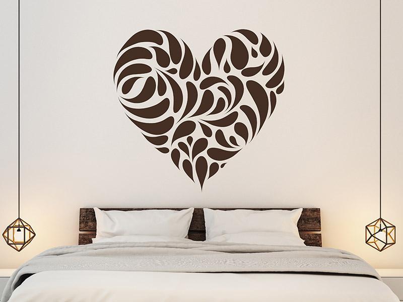 wandtattoo romantisches herz von. Black Bedroom Furniture Sets. Home Design Ideas