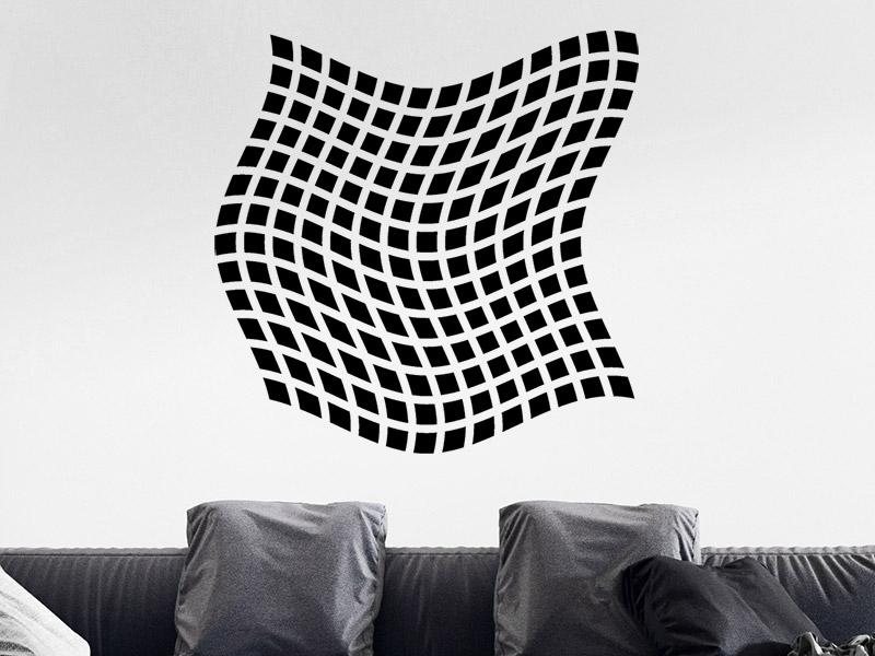 wandtattoo verzerrtes quadrat 3d effekt. Black Bedroom Furniture Sets. Home Design Ideas