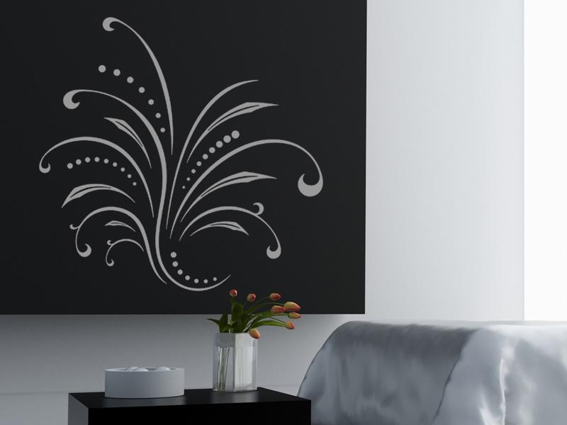 wandtattoo dekoratives ornament mit. Black Bedroom Furniture Sets. Home Design Ideas